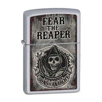 Zippo Sons of Anarchy Satin Chrome Lighter 28502