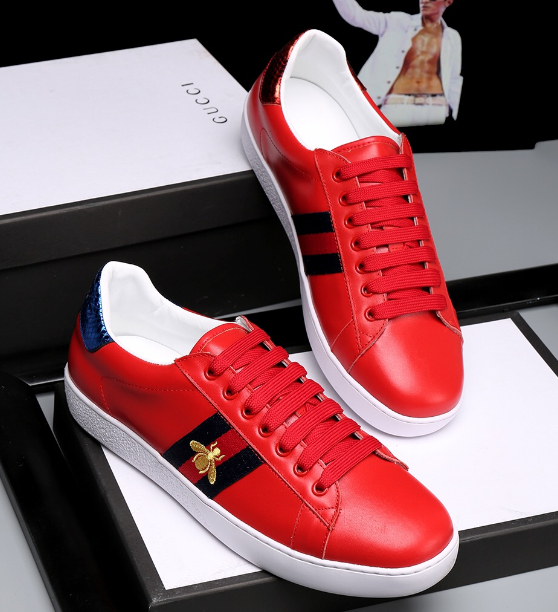 Image of shosouvenir  :Gucci:Trending Fashion Casual Sports Shoes Red