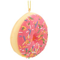 Pink Doughnut With Sprinkles Ornament