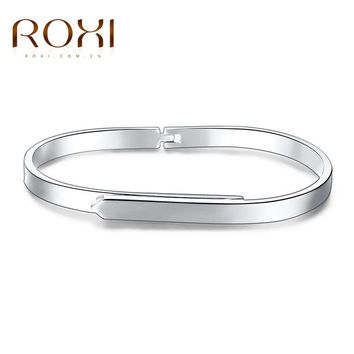 ROXI New Rose Gold Color Cuff Bangle for Women Individuality Simple Bracelets & Bangles For Mother's Day Fashion Jewelry