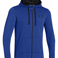 Under Armour Rival Full-Zip Cotton-Blend Hoodie - Royal/Black