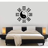 Vinyl Decal Yin Yang Taiji Oriental Chinese Philosophy Wall Stickers Unique Gift (ig986)