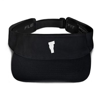 Vermont Embroidered State Shape Visor
