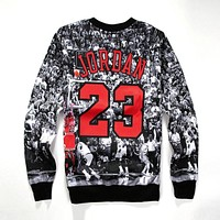 2017 Autumn 3D Printed Jordan Sweatshirts Hoodie HipHop Sweatshirt Cool Long Sleeve Crew Neck Pullover Casual Sweatshirt S-4XL