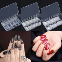 100Pcs/set Ballerina False Nail Tips Coffin Shape Manicure Multi-size Fashion Beauty Half Nail Art Tips With Box Kit