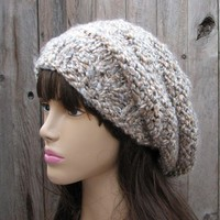 Hand Knit Hat - Slouchy Hat -Multic.. on Luulla