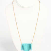 Long Tribal Stone Necklace