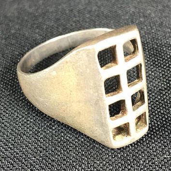 1950s Turkish sterling silver ring Sezgin size