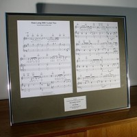 Sheet Music For Your Favourite Song Mounted And Framed