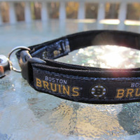 Boston Bruins Cat  or Small Dog Collar