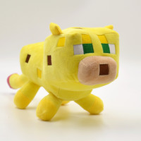 24cm Minecraft Plush Toys Yellow Minecraft Ocelot Stuffed Cat Animal Plush Toys Genuine JJ Dolls Game Cartoon Kids Toys Gifts