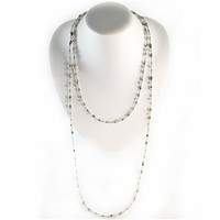 Double Wrap Necklace in Silver