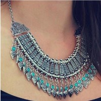 Stylish Gift Shiny New Arrival Jewelry Accessory Vintage Punk Metal Tassels Necklace [7316491335]