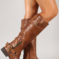 Breckelle Tenesee-15 Buckle Riding Knee High Boot