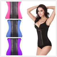 HEXIN Latex Waist Trainer Corset 100% Rubber Waist Corset Chest Binder Plus Size Waist Training Corsets Steel Boned Sport Latex Waist Cincher = 1697088900