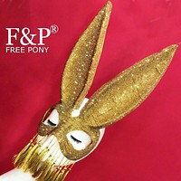 Rhinestone Bunny Rabbit Mask Carnival Costume Gogo Dancer Halloween Cosplay Festival