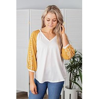 Sugar Rush Top-Mustard