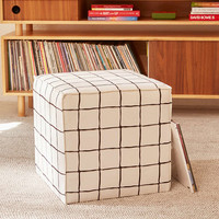 Wonky Grid Ottoman - Urban Outfitters