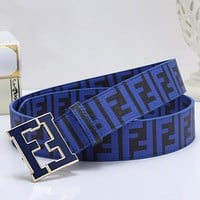FENDI Woman Men Fashion Smooth Buckle Leather Belt