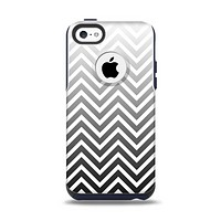 The White & Gradient Sharp Chevron Apple iPhone 5c Otterbox Commuter Case Skin Set