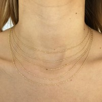 Stay Classy Layered Necklace in Gold