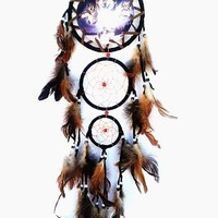 Dream Catcher with Feathers Hanging -w