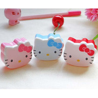 Cute Kawaii Hello Kitty Plastic Pencil Sharpener for Kids Children School Supplies Korean Stationery Free shipping 753