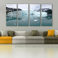 Alaska Glacier Ice Calving Print 3 Panels Print Wall Decor Fine Art Landscape Photography Repro Print for Home and Office Wall Decoration