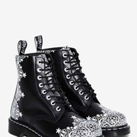 Dr. Martens 8-Eye Leather Boot - Pascal Lace