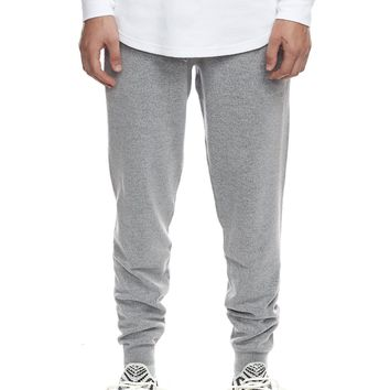 Knit Jogger Sweatpants in Grey