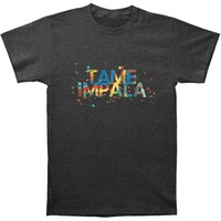 Tame Impala Men's  Backwards Font Slim Fit T-shirt Heather