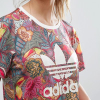 adidas Originals Flowers Print T-Shirt