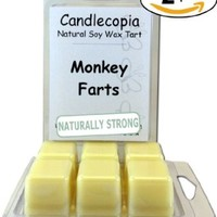 Candlecopia Monkey Farts Scented Wax Melts, A Medley of Peach, Strawberry, Pineapple, Coconut & Orange Blended with Vanilla and Exotic Musk, 6.4 ounces, 2-pack of 6 wax cubes each