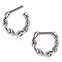 316L Surgical Steel Twisted Septum Clicker
