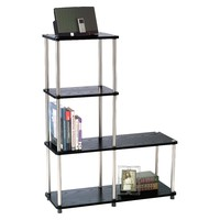 Convenience Concepts Multi Tier Bookshelf - Black : Target