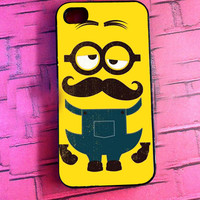 """GuriguriNyoi """"Despicable Me Minion Yellow Mustache"""" for iPhone, Samsung Galaxy and iPod cases"""