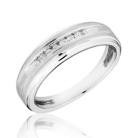 Men's Diamond Milgrain Ring 1/10ctw