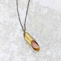 Brooklyn Charm X Urban Renewal Brass + Quartz Necklace
