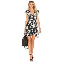 Free People French Quarter Mini Dress Black