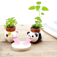 Animal Self Watering Pots