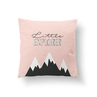 Little Explorer Pillow, Kids Pillow, Home Decor, Cushion Cover, Throw Pillow, Bedroom Decor, Bed Pillow, Decorative Pillow,Boys Room Decor