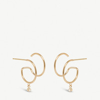 THE ALKEMISTRY Zoë Chicco Illusion 14ct yellow-gold and diamond double hoop earrings