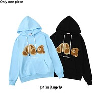 Palm Angels fashion decapitated teddy bear hoodies are hot for sale as casual hoodies for couples