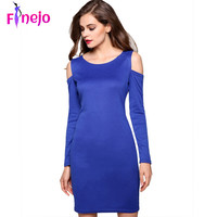 Women wearing long-sleeved sexy clothes in O-neck and stretching Bodycon dress style SPring in the autumn sweater dress