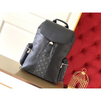 LV Louis Vuitton TAIGA LEATHER AND MONOGRAM CANVAS OUTDOOR BACKPACK BAG