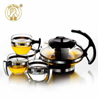 750ML Glass Kettle with 4x150ML Cup Creative Household Tea Set for Your Elegant Simple Modern Style Teaset Style of Brief Vogue
