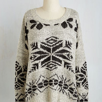 Mid-length Long Sleeve Flurry Up and Fate Sweater