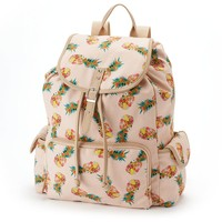 Candie's Floral Pineapple Cargo Backpack (Pink)