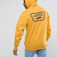 Vans Full Patched Pullover Hoodie In Yellow VA2WF750X at asos.com