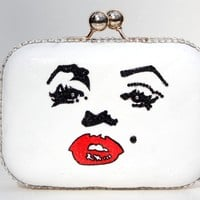 Marilyn Monroe Crystal Clutch
